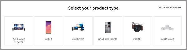 Sélectionnez Type de Hardware pour mettre à jour le Firmware Samsung