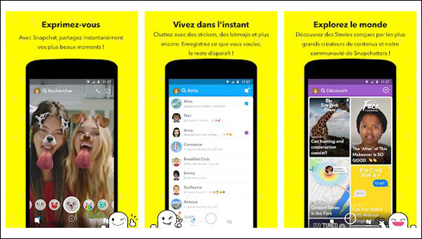 snapchat mise a jour