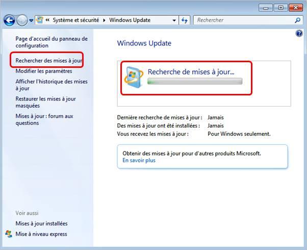recherche-mise-a-jour-windows-7