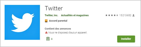 mettre a jour twitter android