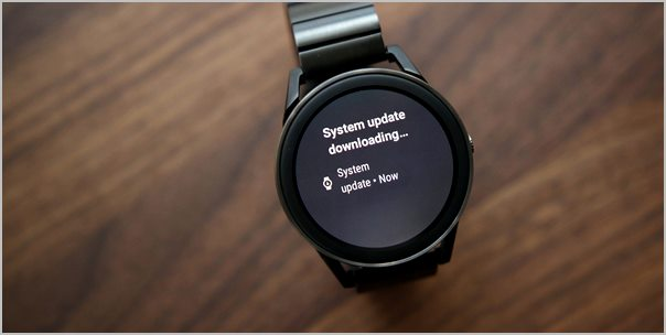 mise a jour android wear