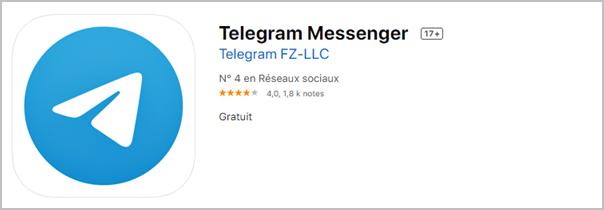 mise a jour telegram ios